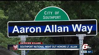 Lt. Aaron Allan honored at Southport's National Night Out  event - Video