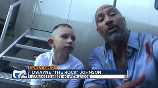 The Rock meets with local hero