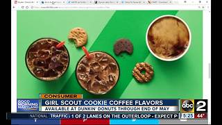 Dunkin' Donuts offering Girl Scout Cookie inspired coffee - Video
