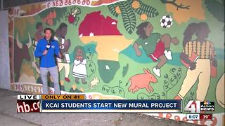 KCAI students use murals to combat graffiti at Kansas City schools - Video