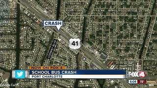 Students escape school bus crash uninjured - Video