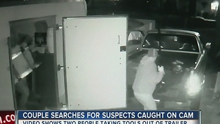 Suspected tool thieves caught on camera