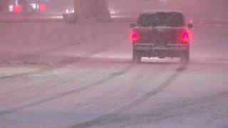 Driving in heavy snow in Tulsa - Video