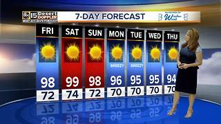 Temperatures rise across Valley, reaching mid 90s - Video