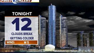 Getting drier and colder tonight