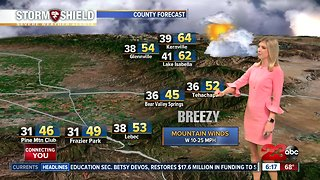 A warming trend is in store for the weekend