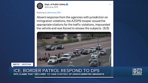ICE, Border Patrol respond to DPS claim that they 'declined' to take custody of undocumented immigrants