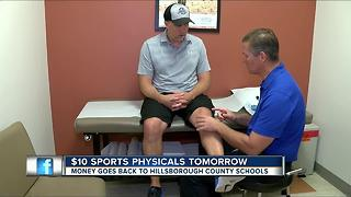 Sports physicals being offered in Hillsborough Co. for $10 - Video