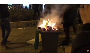 Justice Pour Theo Protesters Light Fires in Standoff with Paris Police - Video