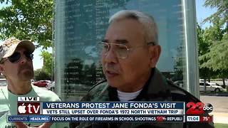 Local Veterans protest Jane Fonda's visit