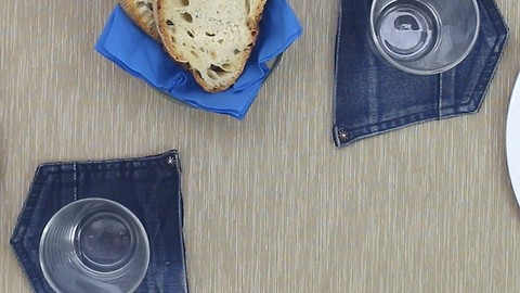 How to Upcycle Old Jeans Into Beautiful Drink Coasters - DIYnCrafts.com