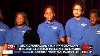 Great American Smokeout featured Grammy winner - Video