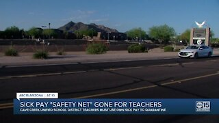 Cave Creek teachers must use own sick time to quarantine