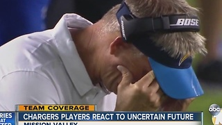 Chargers players react to uncertain future - Video