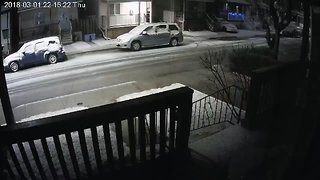 Thundersnow Caught on CCTV in Ontario - Video