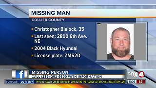 FOUND - The missing man, Christopher Blalock, from Collier County