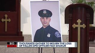Funeral held for fallen Detroit police officer Fadi Shukur