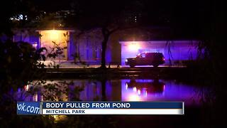 Body pulled from Mitchell Park Pond - Video
