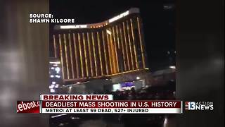 Reactions on Fremont Street after mass shooting