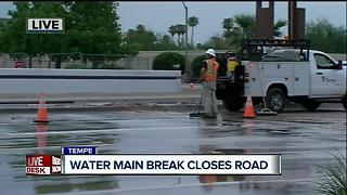 Water main break in Tempe - Video