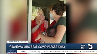 Grandma who beat COVID passes away