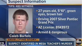 Mesa math teacher Ryne Zahner killed in Tempe shooting, suspect sought - Video