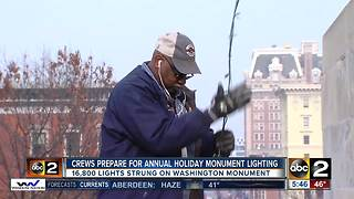 Crews prepare for 46th Annual Monument Lighting in Mount Vernon - Video