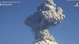 Mexico's Colima Volcano Spews Ash and Smoke - Video