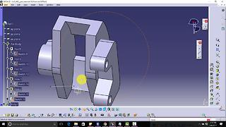 CATIA V5 Free Advance Course Design Brake Caliper|angular extrude,position sketch,close arc,flange| - Video