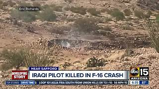 F-16 Fighting Falcon crashes outside of Safford killing pilot - Video