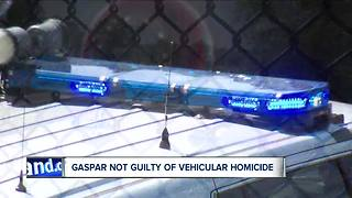 Joshua Gaspar found not guilty of aggravated vehicular homicide in death of trooper on I-90 - Video