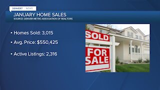 January home sales: Inventory down, prices up