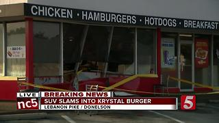 No Injuries After Driver Crashes Into Donelson Krystal - Video