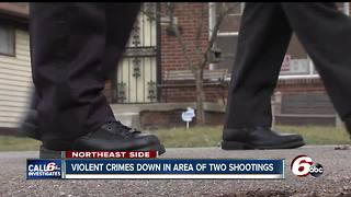 Violent crimes down in area of two shootings on Friday - Video