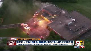 Former Mt. Healthy school catches fire - Video