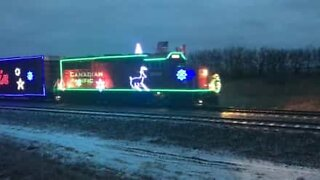 The train with the most Christmas spirit in the world!