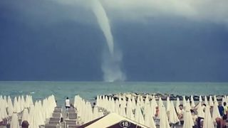 Waterspout Spotted Off Beach on Adriatic - Video