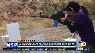 Gun owners face deadline to register AR-15 rifles - Video