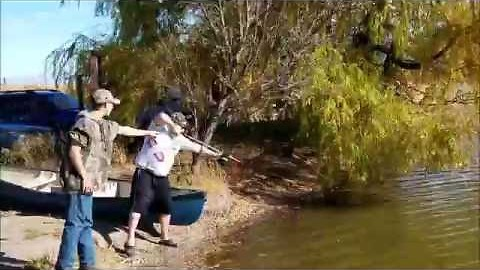 Slingbow fishing leads to lunch time for gator