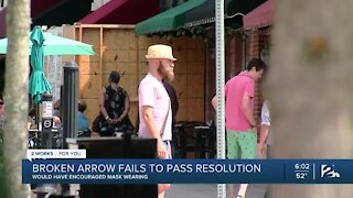 Broken Arrow City Leaders, Failing to Pass Mask Recommendation