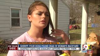 Sheriff: Four dogs found dead in woman's backyard - Video