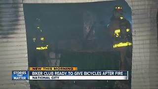 Biker club ready to give bicycles after fire - Video