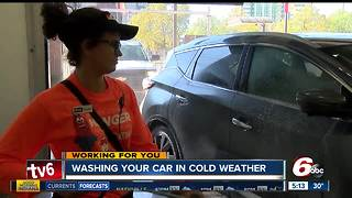 Washing your car in cold weather