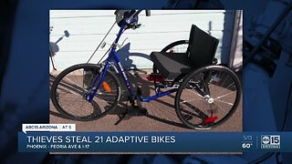21 bikes stolen from group that helps those with disabilities