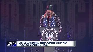 Little Caesars Arena opens with Kid Rock at center stage - Video