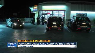 Gunman forces Arco Clerk to the ground - Video