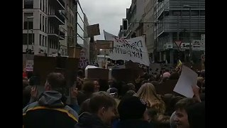 Youth Protesters Pack Berlin Streets For 'Climate Strike' - Video