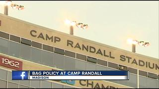 New Camp Randall security policy allows fans to bring clear plastic bags, small purses - Video