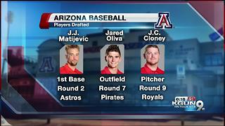 Oliva and Cloney join Matijevic in MLB Draft - Video