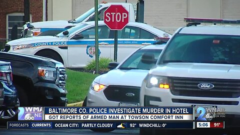 Baltimore County Police investigating homicide at Towson hotel